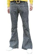 Pantalones de hombre delanteras lisas grises de 100% algodón