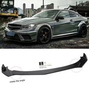 For Mercedes Benz W205 W204 W212 Front Bumper Lip Body Kit Splitters Spoiler 4X