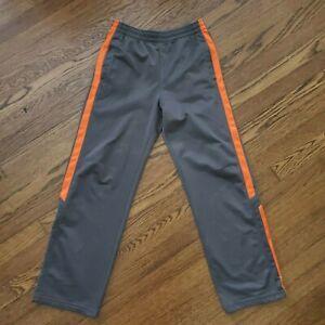 Vintage Starter Track Pants Youth Boys Size XL 14-16 Windbreaker 90s Gray Orange