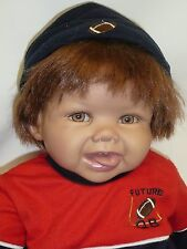 "22""Ashton Drake So Truly Real Vinyl Doll ""Ryan, the Future Q B"" w/COA  Pre-Owned"