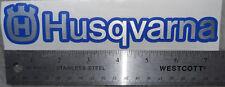 Husqvarna 250 310 450 510 630 Brushed Aluminum text Dark Blue Outline Sticker