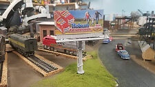Realistic HO Scale Laser Cut Dual Billboard (Asembled and Painted)