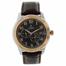 Titan Automatic Black Numeric Men's Wrist Watch 42mm 90033KL01J