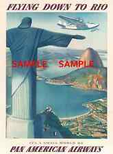 "Pan American Air Lines ( RIO ) 11"" x 17"" Collector's Travel Poster Print - B2G1F"