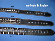 Bullet New Leather UK Handmade Gothic Punk Biker Metal Studded Jeans Waist Belt