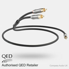 QED Performance J2P 3m Graphite 3.5mm Mini Jack to 2 RCA Phono Audio Cable 3.0m