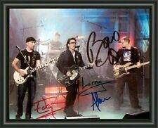 U2 ENTIRE GROUP  SIGNED  AUTOGRAPHED A4 PHOTO POSTER  FREE POST