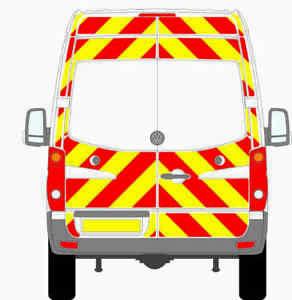 VW CRAFTER VAN 2006-2016 PRISMATIC 3/4 CHEVRON KIT CHAPTER 8 REFLECTIVE