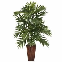 Nearly Natural 6675 Areca Palm w/Bamboo Vase Silk Plant