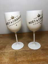 MOET & CHANDON CHAMPAGNE SET OF TWO PLASTIC GLASSES