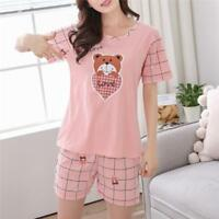 Short Sleeve Cotton Pajamas Women Nightshirt Short Sleepwear