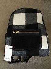 Adam Lippes for Target Shearling Backpack Handbag Bag Black & White Plaid NEW