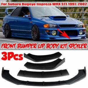 Matte Front Lip Bumper Splitter For Subaru Impreza WRX STI Liberty BRZ Outback