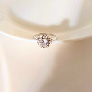 Epiphany Platinum Clad Sterling diamonique Multi-Stone Wide Band Ring Taille 6 QVC