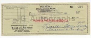 """Lucille Ball - """"I Love Lucy"""" - Twice Signed Check w JSA Authentication"""