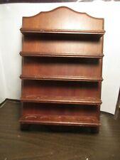 Vintage Wooden Hangable Thimble Holder - Rack - Display - Holds 25 - 5 Shelves
