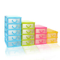 Mini Desktop Plastic Storage Tower 2 3 4 5 Tier Drawer Small Case Storage Box RO