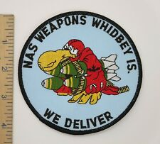US NAVY PATCH NAVAL AIR STATION NAS WHIDBEY ISLAND WEAPONS Original Vintage