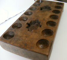 Early 19c Mancala Game Primitive AFRICAN Carved XL WOOD Bao Oware SRI LANKA