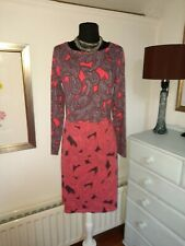 Boden Soft Stretch Cotton Viscose Dress - UK 10 L -