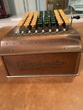 REDUCED ! ! !  COMPTOMETER CALCULATOR MECHANICAL ADDING MACHINE HAND CRANK