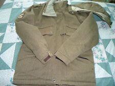 Men's  Small Technical Outerwear  Brown Herring Bone Rip Zone  X5 Hoodie   Coat