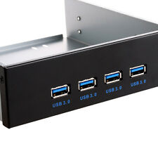 """20 Pin to USB 3.0 4 Ports Front Panel Bracket For 5.25"""" CD DVD ROM Motherboard"""