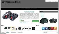 Spy Gadgets Store Automated Amazon Affiliate Website  Free Hosting +Installation
