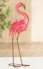 Flamingo Metall Pink Höhe 59 Cm Gartendeko Gartenfigur Figur