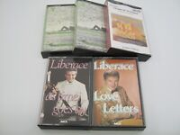 Lot of 5 Instrumental Easy Listening Cassettes Liberace Piano Strings Time Life