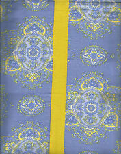 APRIL CORNELL PERIWINKLE YELLOW PAISLEY MEDALLION COTTON SHOWER CURTAIN