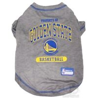 Golden State Warriors NBA Pets First Dog Pet Tee Shirt Gray,  Sizes XS-L