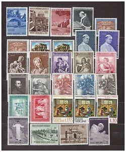 S31856) Vatican MNH 1964 Complete Year Set 29v