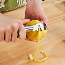 Zester Zestenreißer Edelstahl Reibe Zitrone äußersten Fruchtschale Entfernug Neu