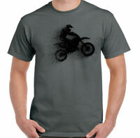 Motocross T-Shirt Abstract Mens MotoX Off Road Biking Bike Motorbike Racing Dirt