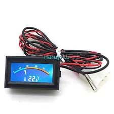 Digital LCD Thermometer Meter Gauge C/F Temperature Temperaturmeß+ probe 12v 24v