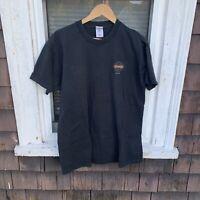 Fatbuger Mens XL Black Crew Neck Short Sleeve Graphic Heavy Cotton T-Shirt Tee