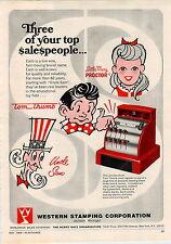 1969 ADVERT Uncle Sam Tom Thumb Cash Register Bank Chula Vista Dice Poker Derby