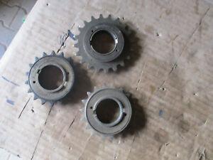 3 Pignons roue libre velo ancien