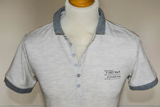 Firetrap Mens Classic Fit Short Sleeve Pique Cotton Polo Shirt Marl Grey Medium