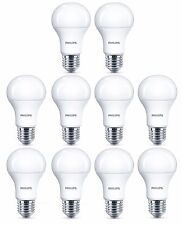 10x Philips 10W = 75W CorePro DEL GLS A60 ES / E27 Cool White 4000k Frosted Bulb