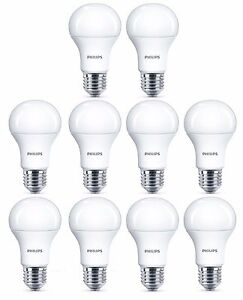 10 x Philips 8W = 60W CorePro LED GLS A60 ES / E27 Warm White 2700k Frosted Bulb