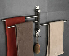 Towel Rail Holder Swivel Bars Hanger Shelf Bathroom Accessories Wall Mounted SUS