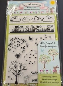 For All Seasons - Build-a-Scene Stamp and Embossing Set