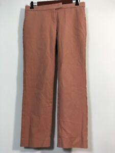 Ann Taylor Pants Women Size 0 Pink DEVIN Fit Crop Straight Leg Trouser Slacks