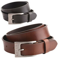 "Mens - Ladies 25mm - 1"" Grained Soft Leather Hide Belt by Milano"