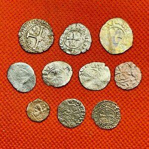 293 MEDIEVAL - FRANKISH & VENETIAN CRUSADERS - LOT  OF  10  COINS