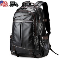 Mens New Large Black Waterproof Backpack Laptop School Bag Travel Bag