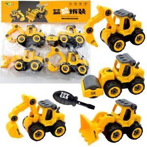 Kids Construction Engineering Toys 4 pcs Vehicles Machine Mini Alloy Model JCB