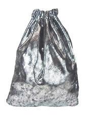 Gymbag argent noir métallique Ella Jonte Sac de sport hip viscose sac